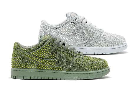 Crystal-Emblazoned Sneakers