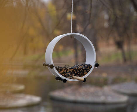 Minimalist Open-Concept Bird Feeders