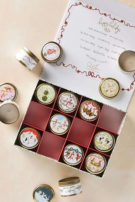 Festive Countdown Candles