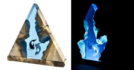 Aquatic Artwork Lamps