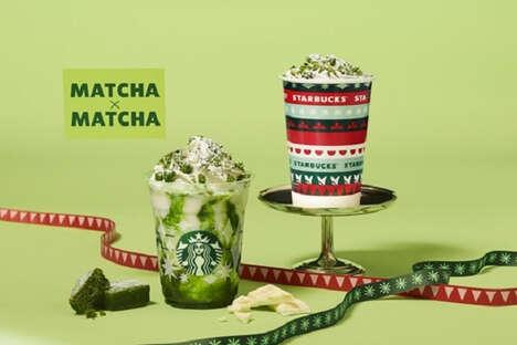 Festive Matcha Beverages