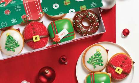 Christmas Tree-Adorned Donuts