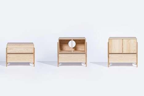 Modular Moon-Inspired Cabinets