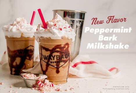 Creamy Peppermint Bark Shakes