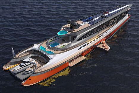 Shark-Inspired Mega Yachts