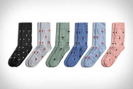 Secret Agent-Themed Socks
