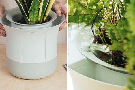 App-Connected Planter Pots