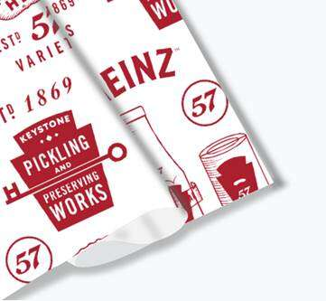 Ketchup-Branded Wrapping Papers
