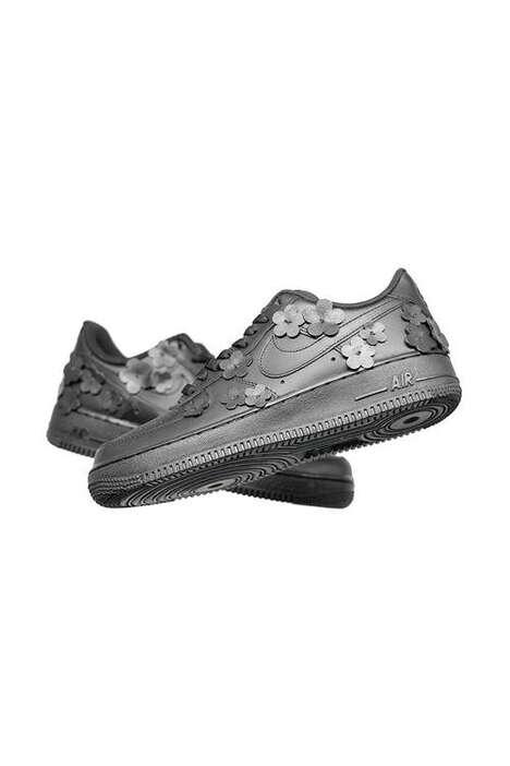 Custom Floral Tonal Sneakers