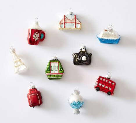 Festive Travel-Inspired Ornaments