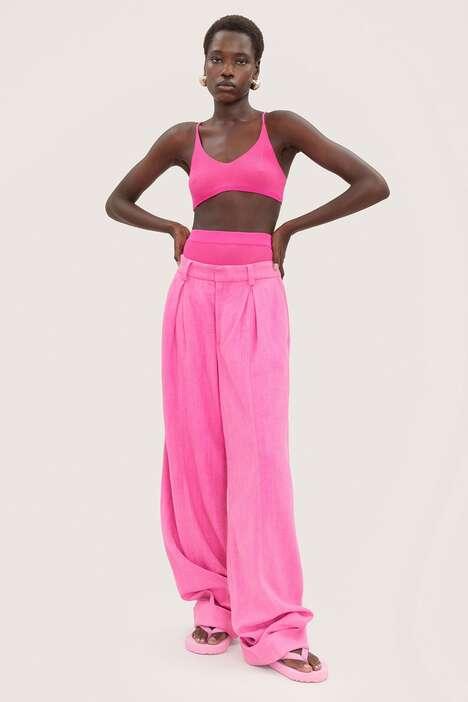 Expansive Pink-Clad Designer Lines