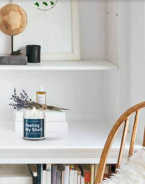 Cozy Book-Scented Candles