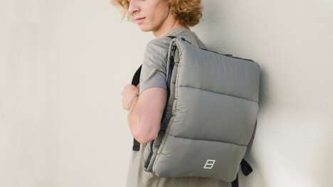 Recycled Cushion-Equipped Backpacks