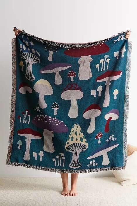 Mushroom Patterned Blankets