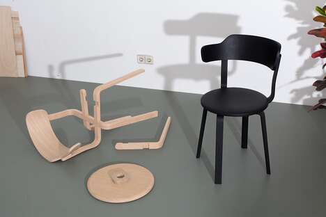 Wooden Hardware-Free Chairs