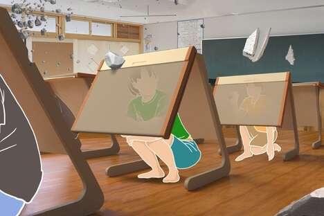 Natural Disaster-Ready Desks