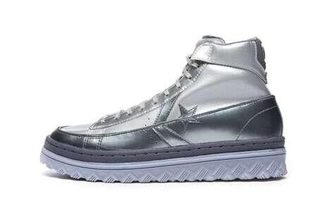 Metallic High-Top Sneakers