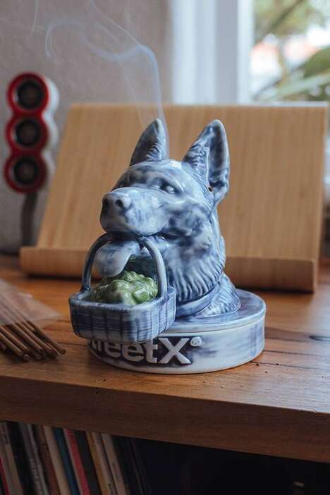 German Shepherd-Themed Incense Chambers