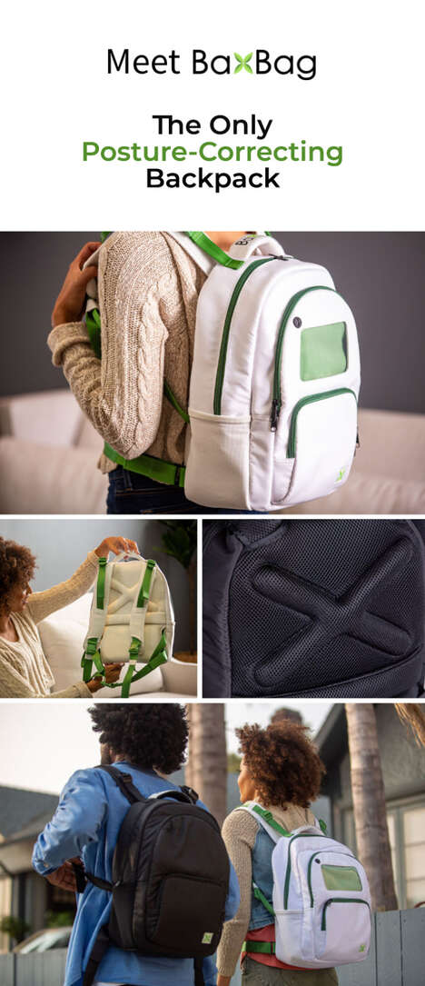 Vegan Posture-Correcting Backpacks