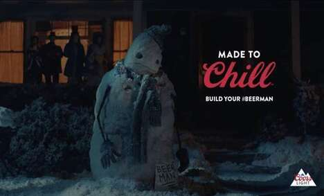 Beer-Inspired Snowman Campaigns
