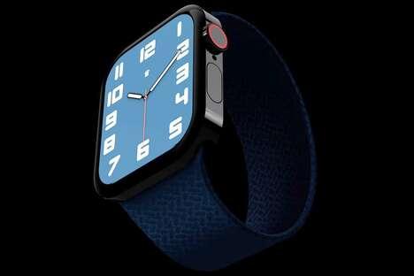 Squarish Flat-Edge Smartwatches