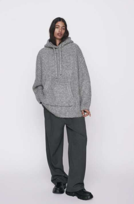 Oversized Knit Sweatshirts