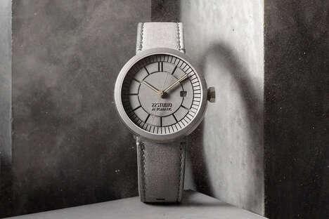 Architectural Concrete Timepieces