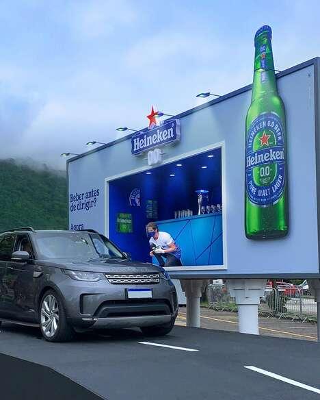 Interactive Bar Billboards