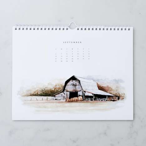 Simplistic Farm-Themed Calendars