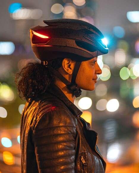 LED-Integrated Weatherproof Bike Helmets