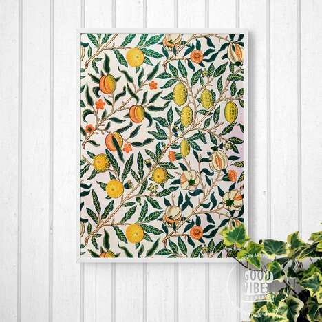 Vintage Abstract Fruit Prints
