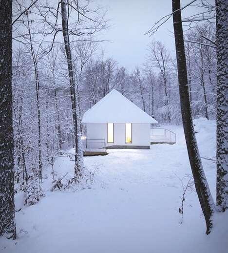 Monochromatic Monolithic Cabins