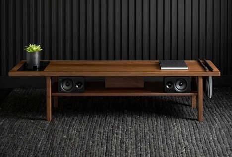 Storage-Equipped Living Space Benches