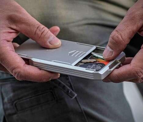 Aluminum-Made Small Item Wallets