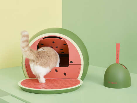Fruit-Shaped Litter Boxes