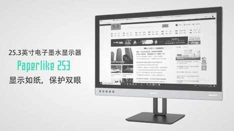 Paper-Like eInk Computer Monitors