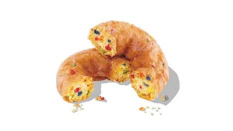 Festive Confetti-Studded Donuts