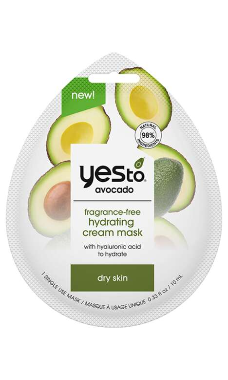 Single-Use Avocado Face Masks