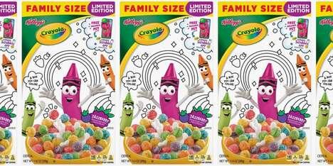 Crayon-Inspired Kids Cereals