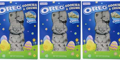 Cookie-Studded Chocolate Rabbits