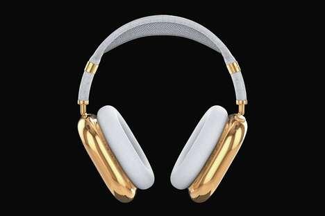 Solid Gold Wireless Headphones