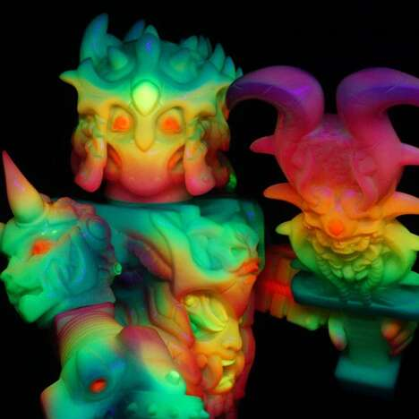 Psychedelic One-Off Vinyl Toys