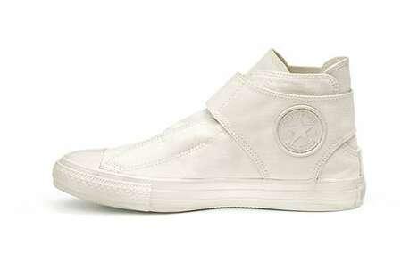 Hi-Top Neutral Monochromatic Shoes