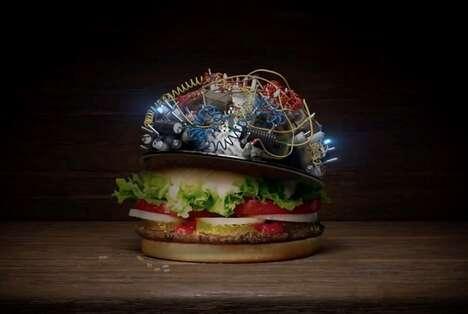 Futuristic Burger Campaigns