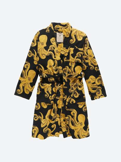 Opulent Octopus-Adorned Robes