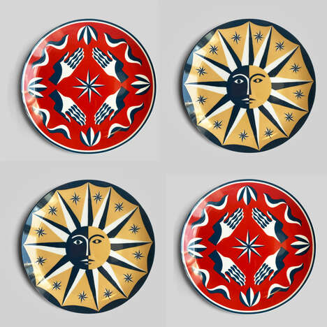 Artfully Patterned Plate Sets