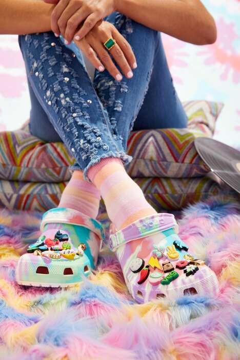 Tie-Dye Clog Shoes