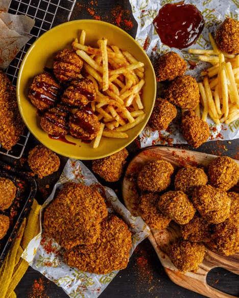 Deep-Friend Plant-Based Chicken Brands