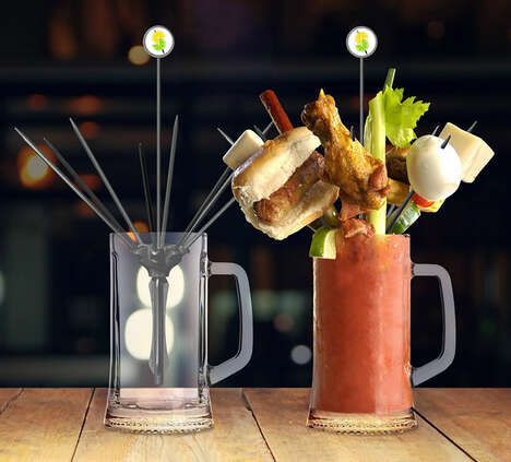 Meal-Holding Cocktail Skewers
