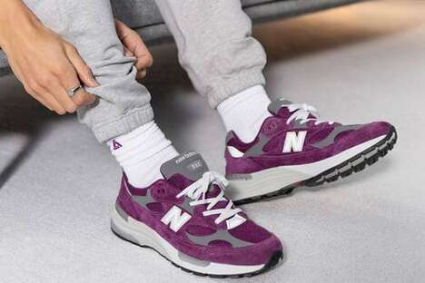 Deep Violet Casual Sneakers